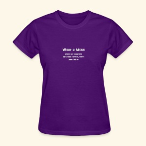 MeSs Grey Text - Women's T-Shirt