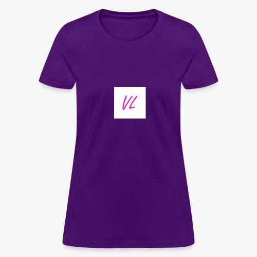 Pink VL Cursive - Women's T-Shirt