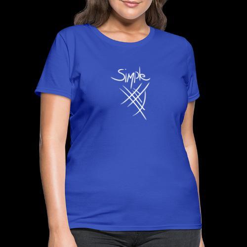 Simple W/logo White - Women's T-Shirt