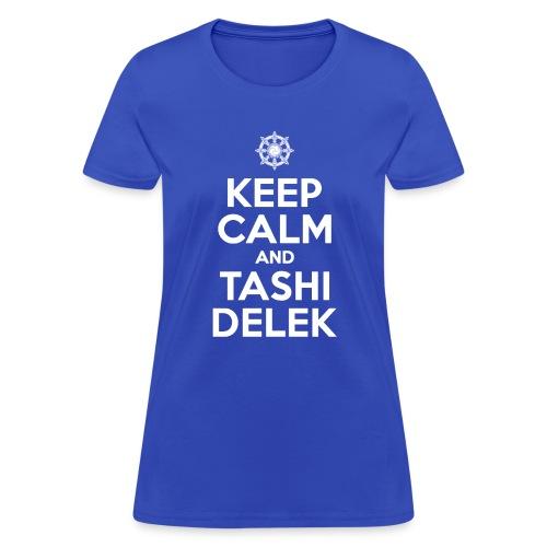 Keep Calm and Tashi Delek Tibet Dharma Wheel - Women's T-Shirt