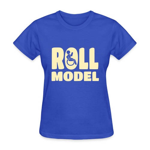 Wheelchair Roll model - Women's T-Shirt
