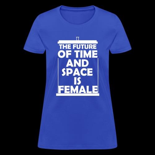 tardis_female_white - Women's T-Shirt