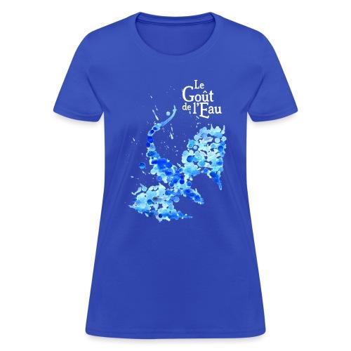 Dragon gouttes logo blanc png - T-shirt pour femmes