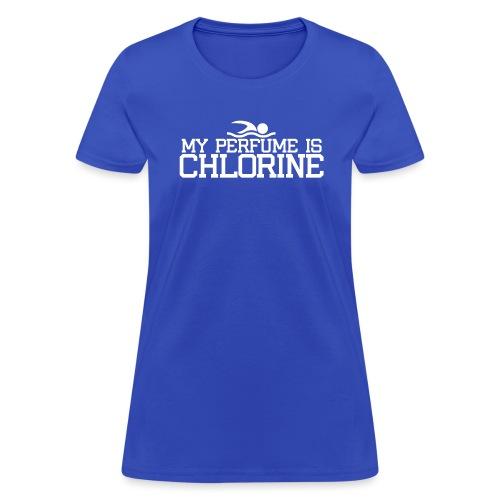 My perfume is chlorine swim - Women's T-Shirt