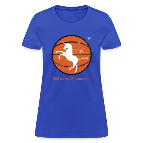 whiteunicornlogoversion2 01text - Women's T-Shirt