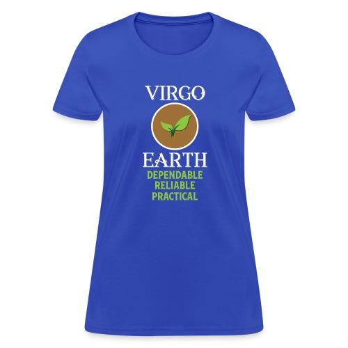 Elemental astrology tshirt Virgo Earth Symbol Gift - Women's T-Shirt