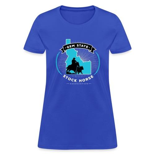 Turquose Sunburst Logo - Women's T-Shirt