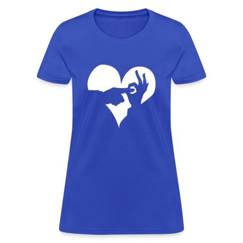 WDC Heart Clear White - Women's T-Shirt