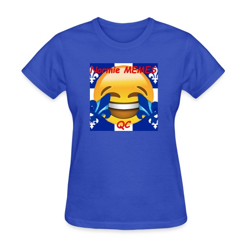 T-Shirt Normie Memes QC BLEU ROI - Women's T-Shirt