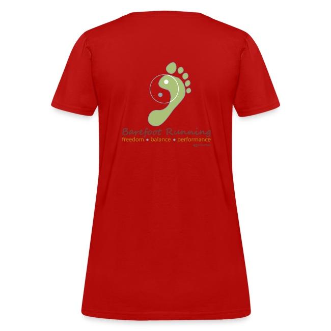 Barefoot Running 1 Women's T-Shirts