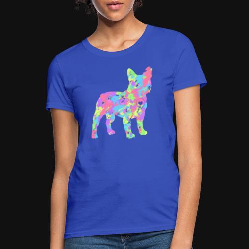 Frenchie love splatter - Women's T-Shirt