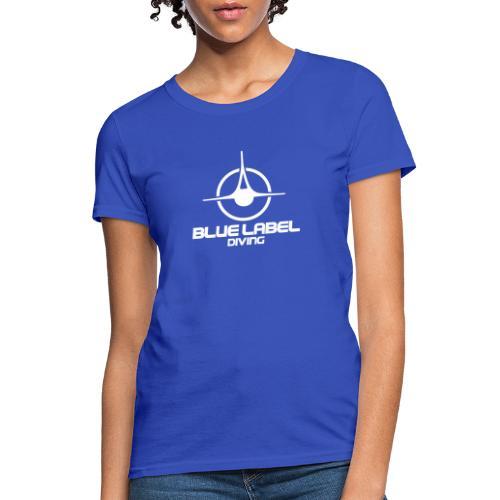 BLD logo with text white - Women's T-Shirt