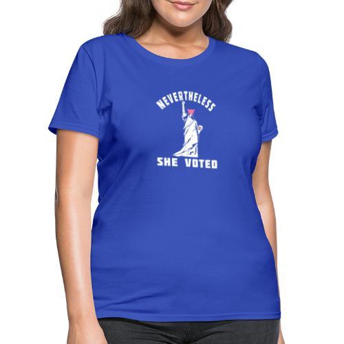 Nevertheless She Voted Pink Hat Lady Liberty - Women's T-Shirt