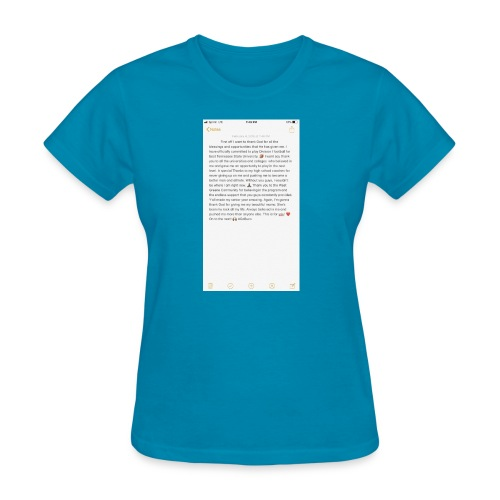 Text from a Football Commit - Women's T-Shirt