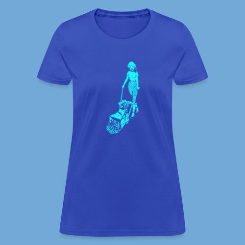 Roto-Hoe Cyan. - Women's T-Shirt