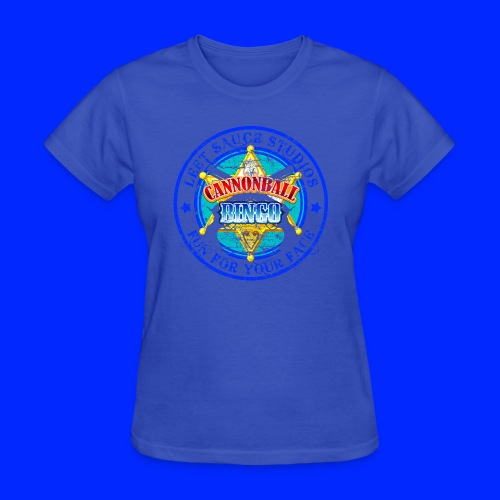 Vintage Cannonball Bingo Badge Blue - Women's T-Shirt