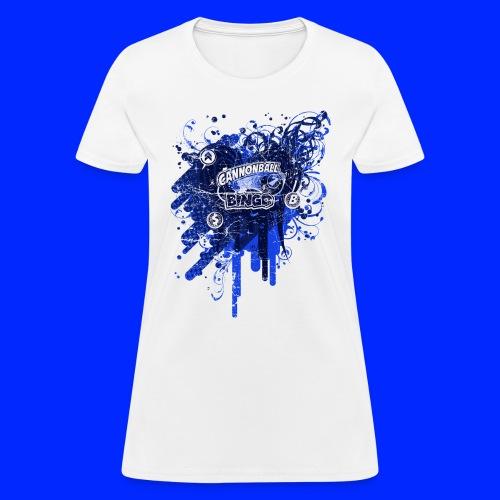Vintage Cannonball Bingo Drip Blue - Women's T-Shirt