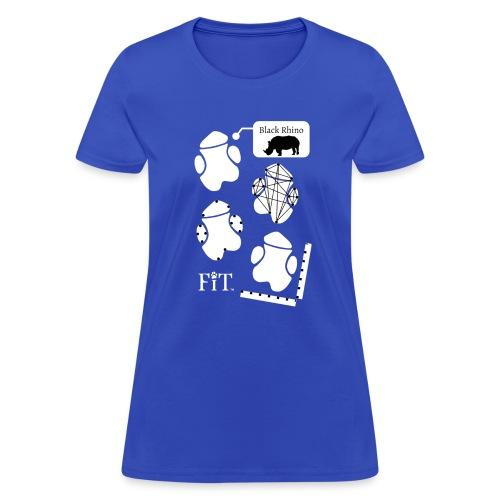 Rhino Algorithm (Dark) - Women's T-Shirt