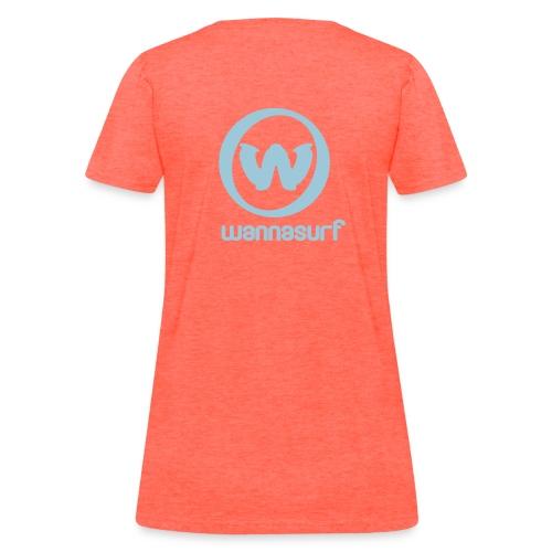 spreadshirtstickerwannasurffinal - Women's T-Shirt