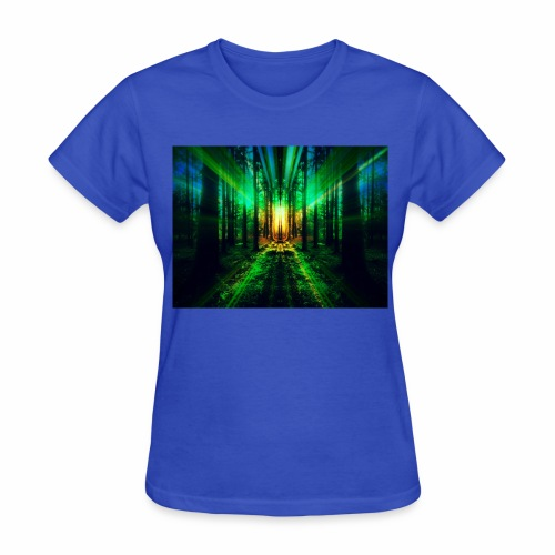 Into the Woods - Mirrored Forest Print - Women's T-Shirt