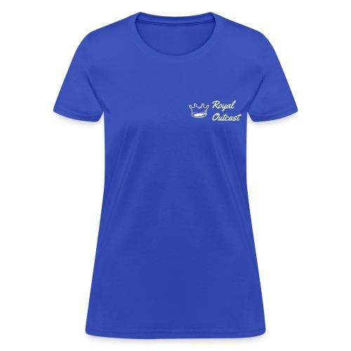 Royal blue Royal Outcast with white logo - Women's T-Shirt