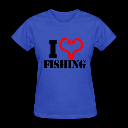 02 I heart fishing BLACK - Women's T-Shirt