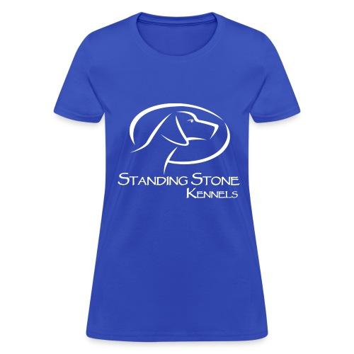 Standing Stone Kennels White Logo - Women's T-Shirt