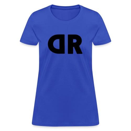 DUBBRICHARD BLACK ON BLUE - Women's T-Shirt