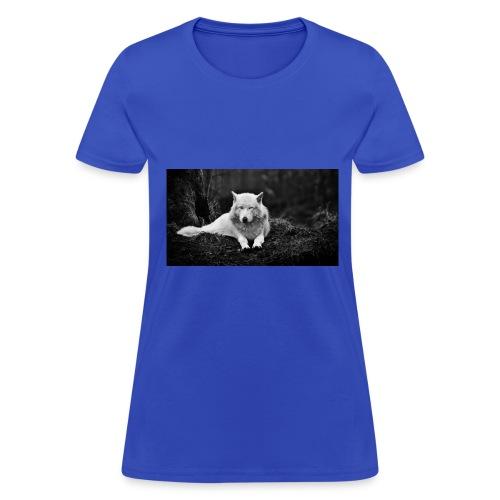 Slick White Wolf - Women's T-Shirt