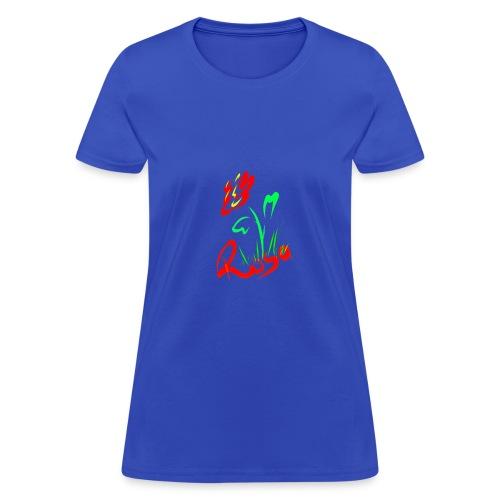 Red rose design - Women's T-Shirt