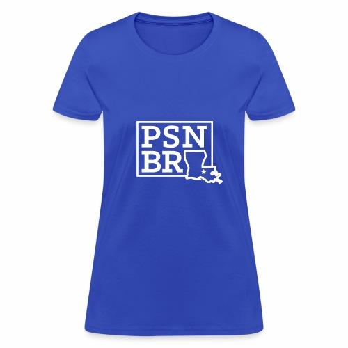PSN BR Blue on White - Women's T-Shirt