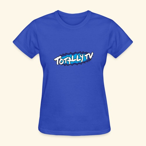 Totally TV Burst Logo Blue on Blue - Women's T-Shirt