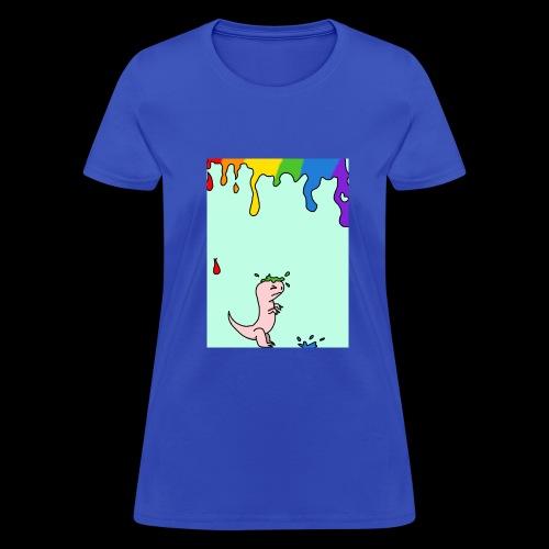 Dinosaur rainbow drip - Women's T-Shirt