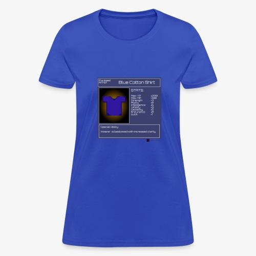 Gamer StatGear Blue Cotton Shirt - Women's T-Shirt