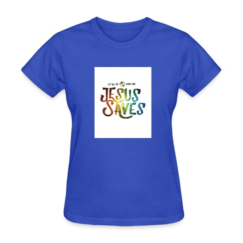 jesus saves by kevron2001 da12h2t - Women's T-Shirt