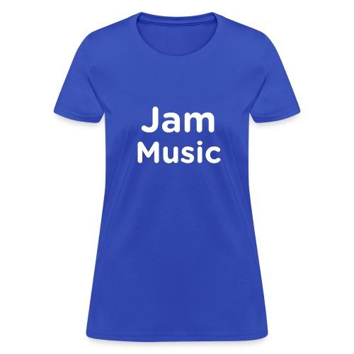 JamMusicWhite - Women's T-Shirt