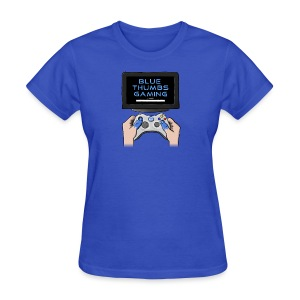 Blue Thumbs Gaming: Gamepad Logo - Women's T-Shirt
