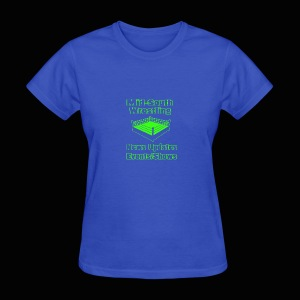 Mid-South Wrestling News Neon/Lime Green - Women's T-Shirt