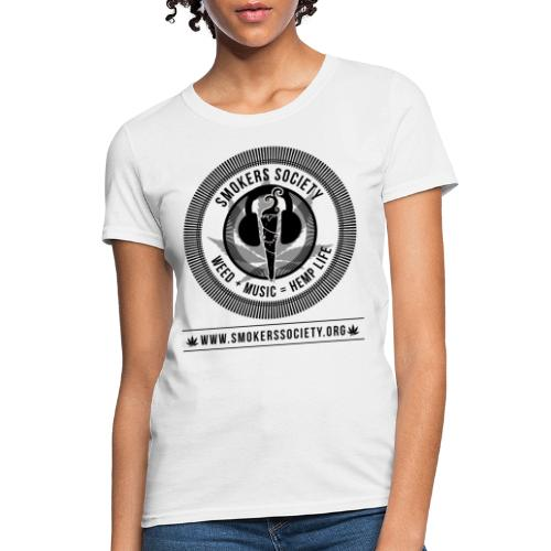 Smokers Society Logo black print png - Women's T-Shirt