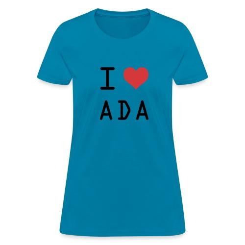 I HEART ADA (Cardano) - Women's T-Shirt