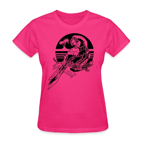 Tropical Parrot - Women's T-Shirt