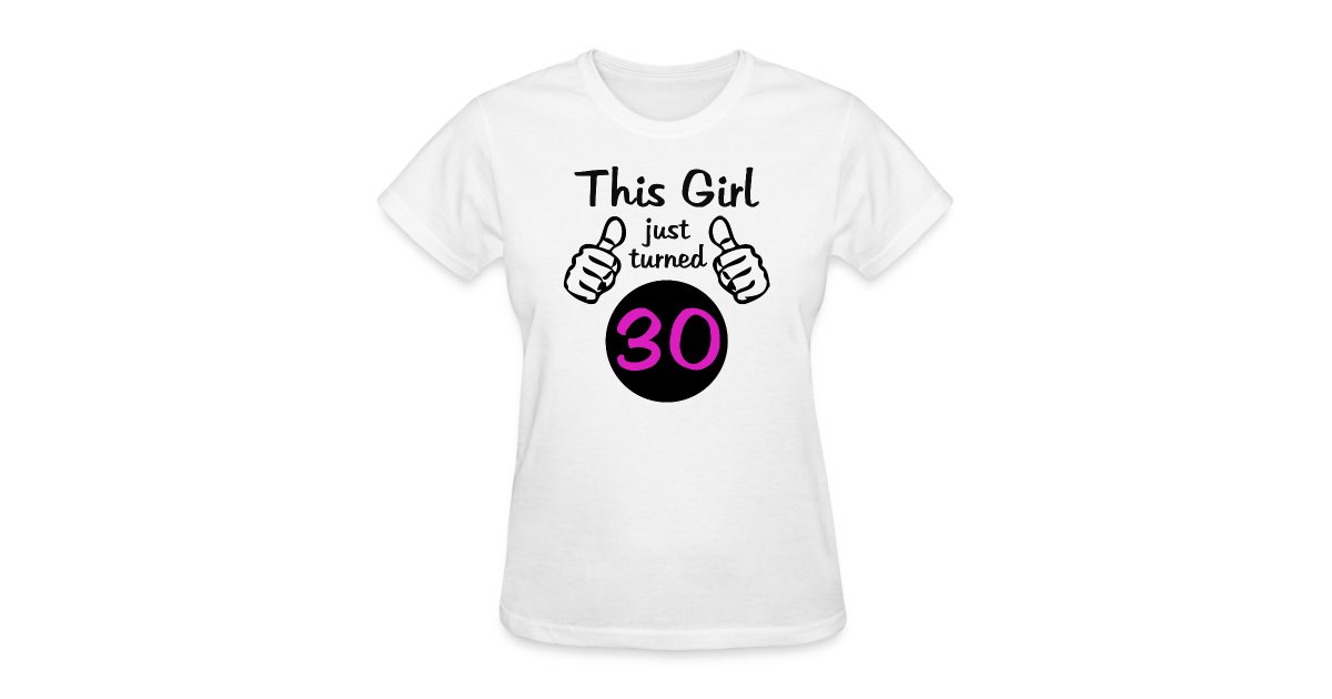Women/'s Graphic 30th Birthday T-shirt This is What 30 and Awesome Looks Like!