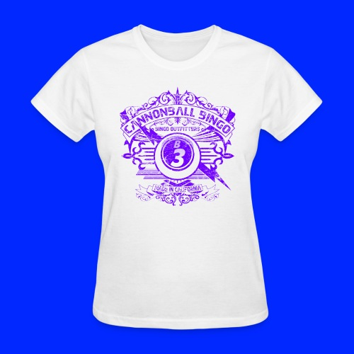 Vintage Cannonball Bingo Crest Purple - Women's T-Shirt