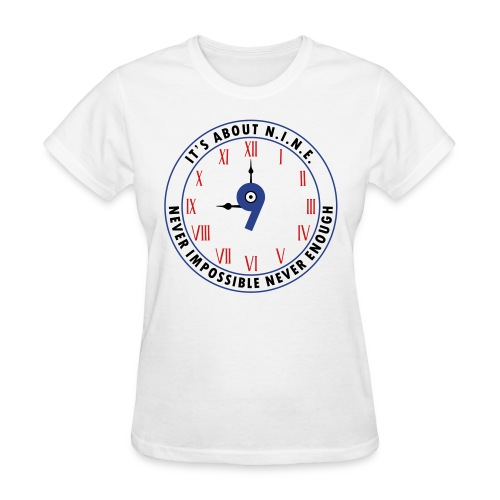 NINE Logo v2 2018 blue Outlines Red Numbers - Women's T-Shirt