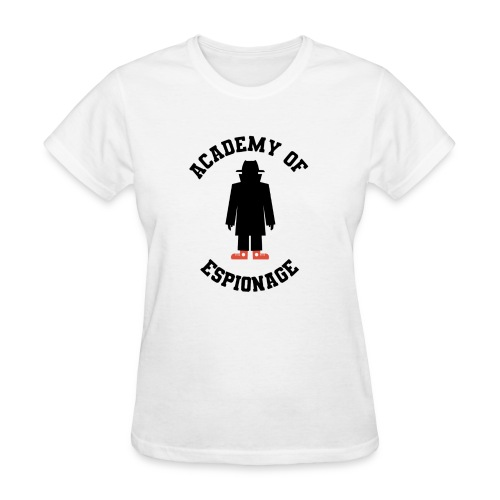 Academy of Espionage curved text and logo - Women's T-Shirt