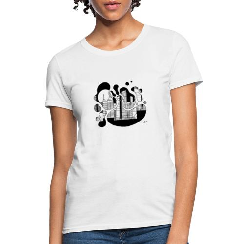 Cityscape Ink Splash by Jack L Barton - Women's T-Shirt