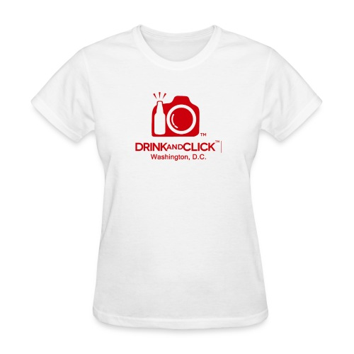Transparent All red No initials with Drink and Cli - Women's T-Shirt