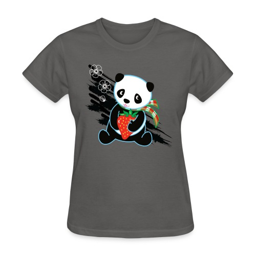 Cute Kawaii Panda T-shirt by Banzai Chicks - Women's T-Shirt