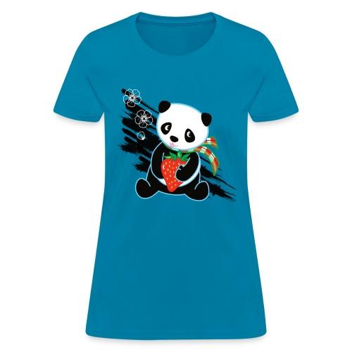 Cute Kawaii Panda T-shirt by Banzai Chicks - Women's T-Shirt