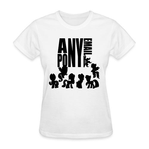 anypony email design 1 - Women's T-Shirt